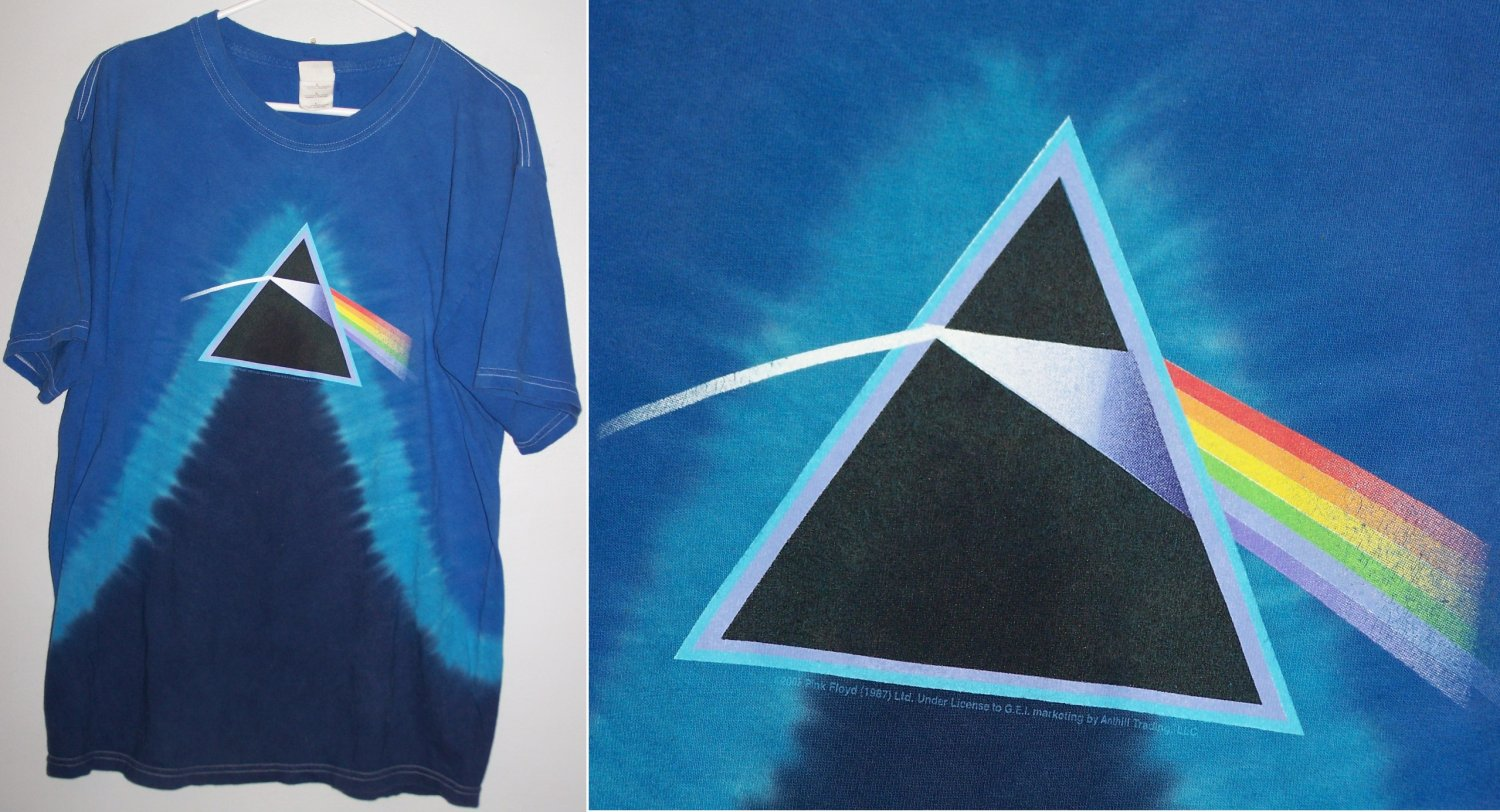Pink Floyd Dark Side Of The Moon Prism Tie Dye Shirt L