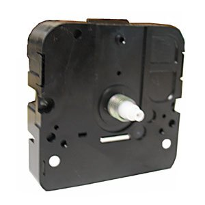 *NEW* Snap-In Clock Movement with Threaded Shaft - Choose a Size! (MTW-41)