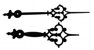 """New 8"""" Extra Fancy Large Black Clock Hands - Make Your Own Clock! (H-141B)"""