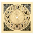 7.5 Inch Square Metal Clock Dial with Arabic Numbers (DM-11)
