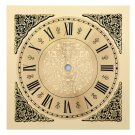 7.5 Inch Square Metal Clock Dial with Roman Numbers (DM-12)