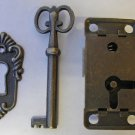 Lock & Key Set with Escutcheon Plate. - HLK-01