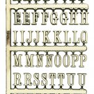 "1"" Gold Alphabet Decal Set  - Stick On - NAL-01"