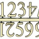 "1"" Classic Gold Clock or Craft Numerals -Numbers 1-12 - NC112-01"