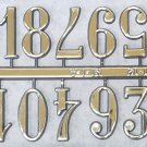 "3/8"" Arabic Gold Clock or Craft Numerals -Numbers 1-12 - NA112-38"