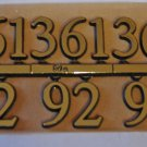 "5/8"" Classic Gold Clock or Craft Numerals -Numbers 3,6,9,12 - NC31-58"