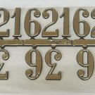 """3/8""""  Arabic Gold Clock or Craft Numerals -Numbers 3,6,9,12 - NA312-38"""