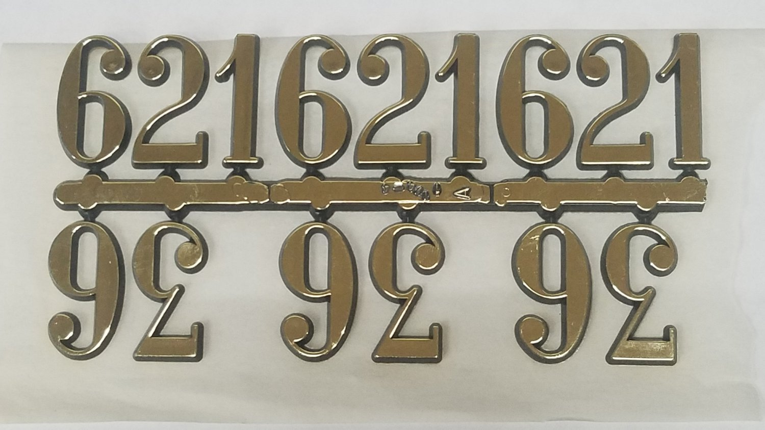"""3/4""""  Arabic Gold Clock or Craft Numerals -Numbers 3,6,9,12 - NA312-34"""