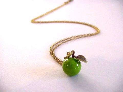 Mafia Jewellery Green Apple Pendant