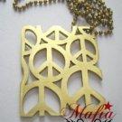 Mafia Brass Peace Sign Pendant