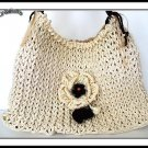 Cream and Brown Flower Bag