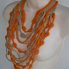 Maxi Cascate Necklace Cream and Orange