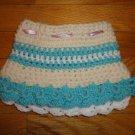 Crochet Skirt for Girls Blue