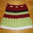 Crochet Skirts for Girls Red, Brown & Green