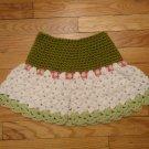 Crochet Girls Skirt Pink or Green