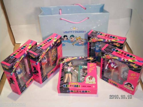 Sailor Moon Petite Soldier 5 Figure NIB MIB Bonus Gift