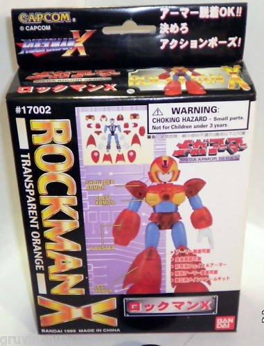 ROCKMAN X Transparent Orange1999  Rare Mega Armor