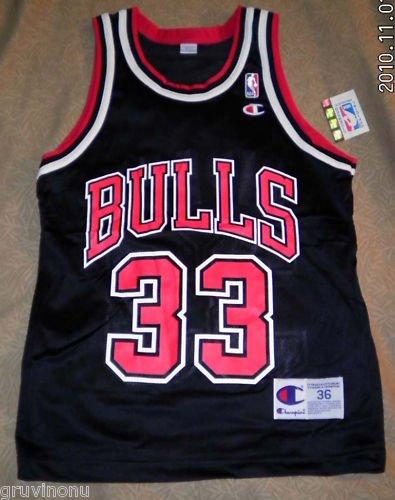 Scottie Pippen Chicago Bulls Black #33 New Sz 36 Og Tag