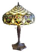 Baroque Tiffany Style Stained Glass Table Lamp
