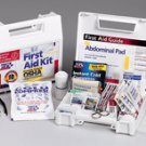 10 Person- 62 piece First Aid Kit Plastic Case w/ Dividers