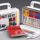 Landscaper's First Aid Kit 94 piece Plastic Case for Cuts Scrapes Insect Stings