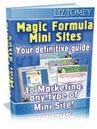 Magic Formula Mini Sites eBook