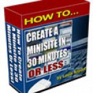 How to Create a Minisite in 30 Minutes or Less
