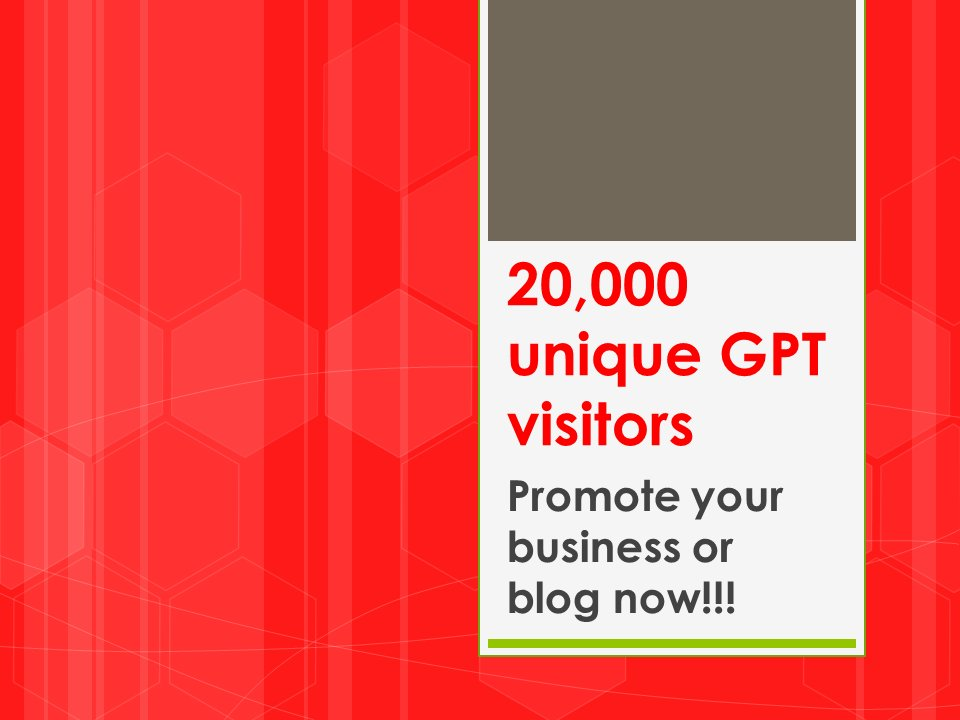 20,000 Unique and Real Visitors to Your Business or Blog Website
