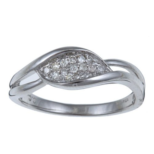 10k White Gold Pave Diamond Ring (G-H, I1-I2)