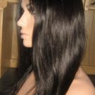 "16""  Silky Straight Indian Remy Full Lace Wig"