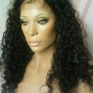 "18"" Curly Indian Remy Full Lace Wigs"