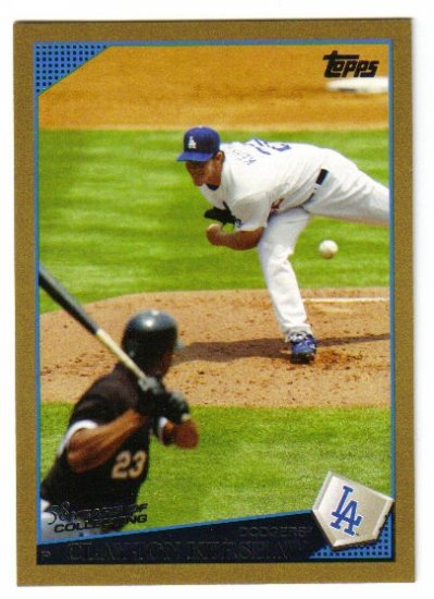 2009 Topps Gold Border #575 Clayton Kershaw Dodgers