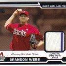 2008 Topps Highlights Relic HR-BW Webb Diamondbacks