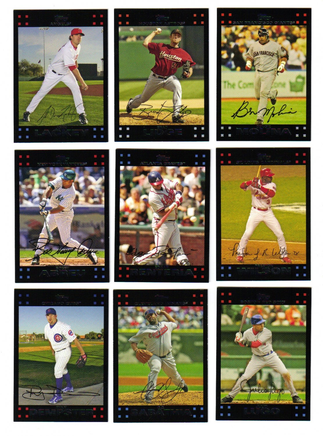 2007 Topps Red Backs U-Pick lot of 10 cards