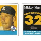 2007 Topps Heritage Mickey Mantle Home Run Champion 2 card lot.  Nrmt.