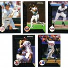 1992 Score Pinnacle Team 2000 5 card LOT