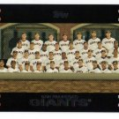 2007 Topps San Francisco Giants 21 card team SET