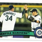 2011 Topps Seattle Mariners 26 card team SET
