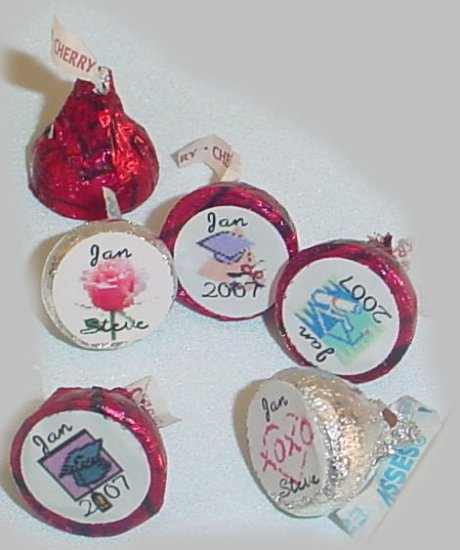 100 Personalized Hershey's Kisses Party Favors candy INCLUDED!