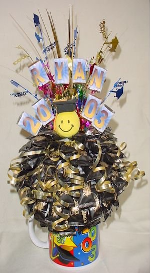 Graduation candy bouquet centerpiece party decoration