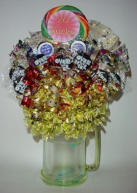 OVER THE HILL BIRTHDAY Candy Bouquet Birthday gift or Centerpiece
