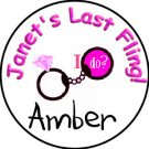 Personalized Bachelorette Party CONDOM NAME PINS / TAGS!  Free Shipping!