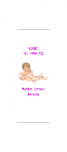 30 Baby Announcement Shower Candy Bar Wrappers Hershey's Nugget Miniature Labels Party Favors