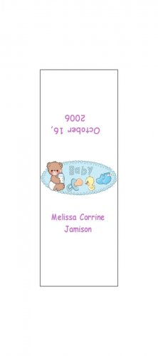 30 Baby Announcement Shower Candy Bar Wrappers Hershey's Nugget Miniature Labels Party Favors Bear