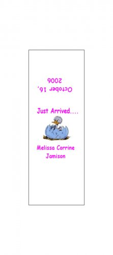 30 Baby Announcement Shower Candy Bar Wrappers Hershey's Nugget Miniature Labels Party Favors Chick