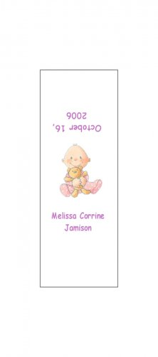 30 Baby Announcement Shower Candy Bar Wrappers Hershey's Nugget Miniature Labels Party Favors Girl