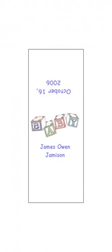30 Baby Announcement Shower Candy Bar Wrappers Hershey's Nugget Miniature Labels Party Favors Blocks