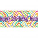 30 Colorful BIRTHDAY CRAYON Wrappers Labels, Kid's Party Favors
