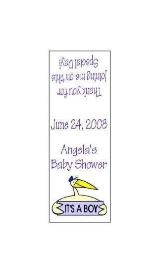 30 TIC TAC MINTS It's a Boy Stork Wrappers Baby Shower Labels Party Favors
