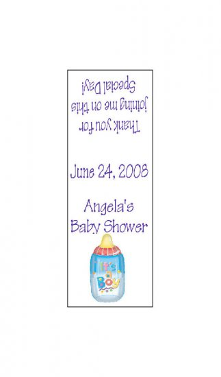 30 TIC TAC MINTS Boy Baby Bottle Wrappers Baby Shower Labels Party Favors